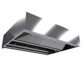 Зонт приточно-вытяжной центральный ВЦ 2200*1800*350 с подсветкой