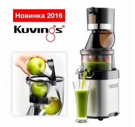Соковыжималка Kuvings Whole Slow Juicer Chef CS600 (бережный отжим) с двумя надстройками и набором стрейнеров (смузи, сорбет)