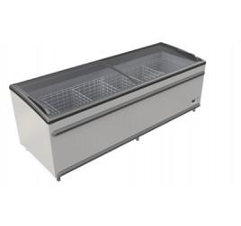 Морозильная ларь-бонета с раздвижной крышкой из гнутого стекла BODRUM 2500 FR